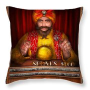 Hobby - Have Your Fortune Told Throw Pillow by Mike Savad