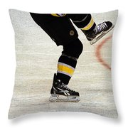 Hockey Dance Throw Pillow by Karol Livote