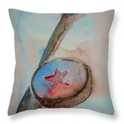 Hockey Throw Pillow by Elaine Duras