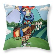 Hole In One Throw Pillow by Anthony Falbo