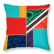 Homage To Inlay #1 Throw Pillow by Karyn Robinson