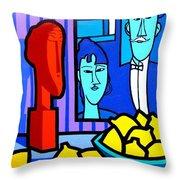 Homage To Modigliani Throw Pillow by John  Nolan