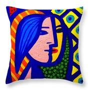 Homage To Pablo Picasso Throw Pillow by John  Nolan