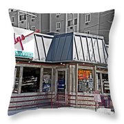 Home Of The Teeny Weenie Throw Pillow by Tom Gari Gallery-Three-Photography