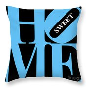 Home Sweet Home 20130713 Blue Black White Throw Pillow by Wingsdomain Art and Photography