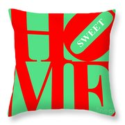 Home Sweet Home 20130713 Red Green White Throw Pillow by Wingsdomain Art and Photography