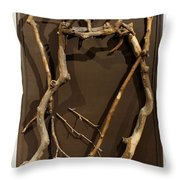 Homosycamorous Or We Evolved From Trees Throw Pillow by Adam Long