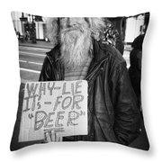 Honesty Throw Pillow by Erik Brede