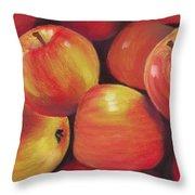 Honeycrisp Apples Throw Pillow by Anastasiya Malakhova