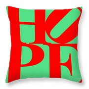Hope 20130710 Red Green Throw Pillow by Wingsdomain Art and Photography