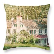 Hopewell Furnace In Pennsylvania Throw Pillow by Olivier Le Queinec