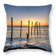 Horizon Sunburst Throw Pillow by Michael Ver Sprill