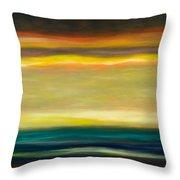 Horizons Throw Pillow by Gina De Gorna