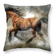 Horse Throw Pillow by Daniel Eskridge
