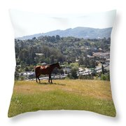 Horse Hill Mill Valley California 5d22662 Throw Pillow by Wingsdomain Art and Photography
