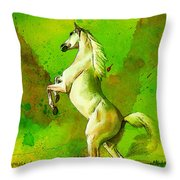 Horse Paintings 010 Throw Pillow by Catf