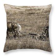 Horse Power Throw Pillow by Janice Rae Pariza