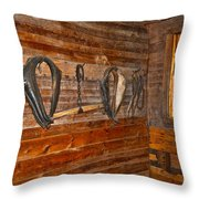Horse Stable Throw Pillow by Frozen in Time Fine Art Photography