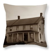 Horton Point Lighthouse Throw Pillow by Skip Willits
