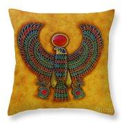 Horus Throw Pillow by Joseph Sonday