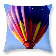 Hot Air Ballooning In Vermont Throw Pillow by Edward Fielding