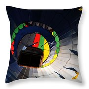 Hot Air Up Throw Pillow by Leon Hollins III