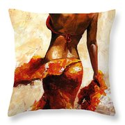 Hot Breeze  Throw Pillow by Emerico Imre Toth