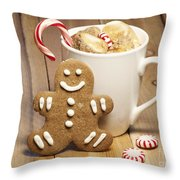 Hot Chocolate Toasted Marshmallows and a Gingerbread Cookie Throw Pillow by Juli Scalzi