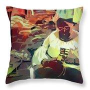 Hot Market Throw Pillow by Kris Parins