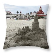 Hotel Del Coronado In Coronado California 5D24264 Throw Pillow by Wingsdomain Art and Photography