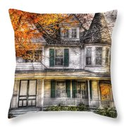 House - Classic Victorian Throw Pillow by Mike Savad