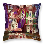 House Of Cards Throw Pillow by Ciro Marchetti