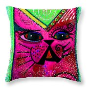 House of Cats series - Glitter Throw Pillow by Moon Stumpp