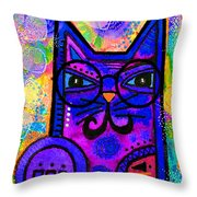 House Of Cats Series - Paws Throw Pillow by Moon Stumpp