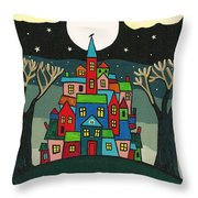 House Of The Crow Throw Pillow by Margaryta Yermolayeva