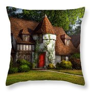 House - Westfield NJ - Fit for a king Throw Pillow by Mike Savad