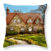House - Westfield Nj - The Estates  Throw Pillow by Mike Savad
