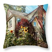 House - Westfield Nj - The Summer Retreat Throw Pillow by Mike Savad