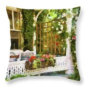 Houses - New Hope Pa - Come Stay With Us  Throw Pillow by Mike Savad
