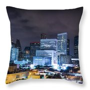 Houston City Lights Throw Pillow by David Morefield