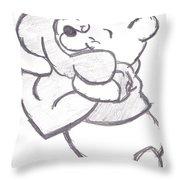Huggable Pooh Bear Throw Pillow by Melissa Vijay Bharwani