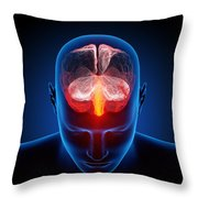 Human brain Throw Pillow by Johan Swanepoel