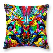 Human Self Awareness Throw Pillow by Teal Eye  Print Store