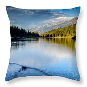 Hume Lake Evening Throw Pillow by Terry Garvin
