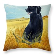 Hunting Day Over Throw Pillow by Darlene Prowell