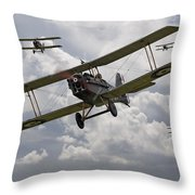 Hunting Pack Throw Pillow by Pat Speirs