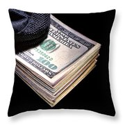 Hush Money Throw Pillow by Olivier Le Queinec