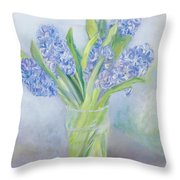 Hyacinths Throw Pillow by Sophia Elliot