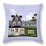 Hydrangea Cove Throw Pillow by Catherine Holman