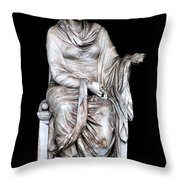 Hygieia Throw Pillow by Fabrizio Troiani